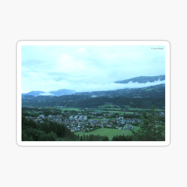 Green landscape Sticker