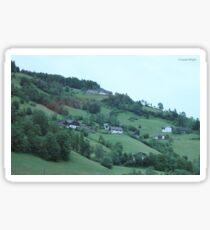 Green landscape2 Sticker