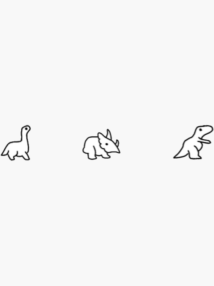 Minimalist Little Dinosaurs by KaitlynnCR