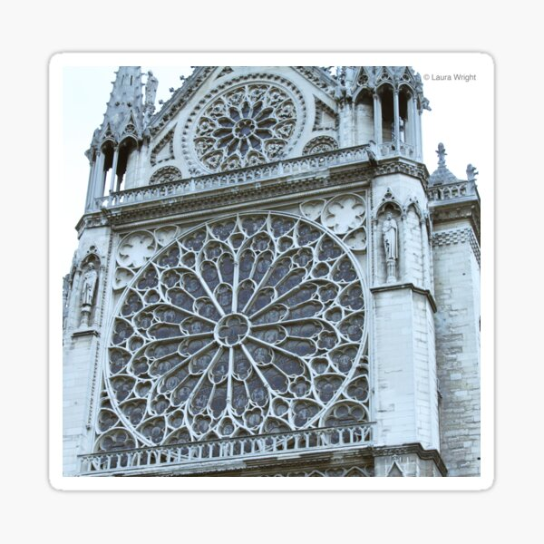 cathedral window Sticker