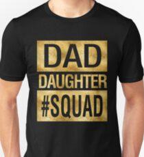 Vati-Tochter-Gruppen-lustiges Familien-Zusammenbringen Slim Fit T-Shirt