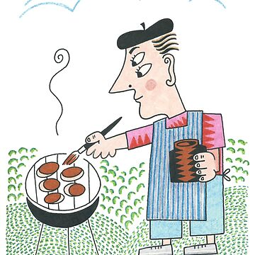 Picasso at the BBQ by CharleyBarsotti