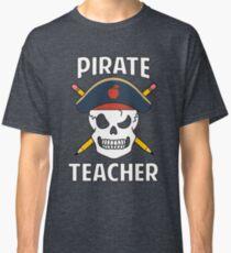 Pirate Teacher Funny School Halloween Costume Gag Gift Classic T-Shirt