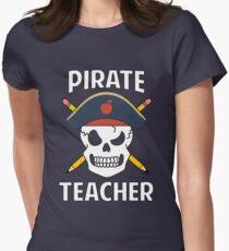 Pirate Teacher Funny School Halloween Costume Gag Gift Women's Fitted T-Shirt