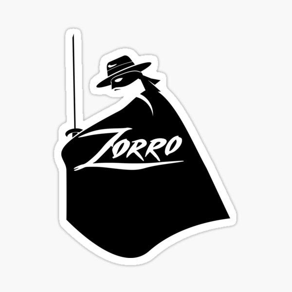 Zorro Blanco y negro Pegatina