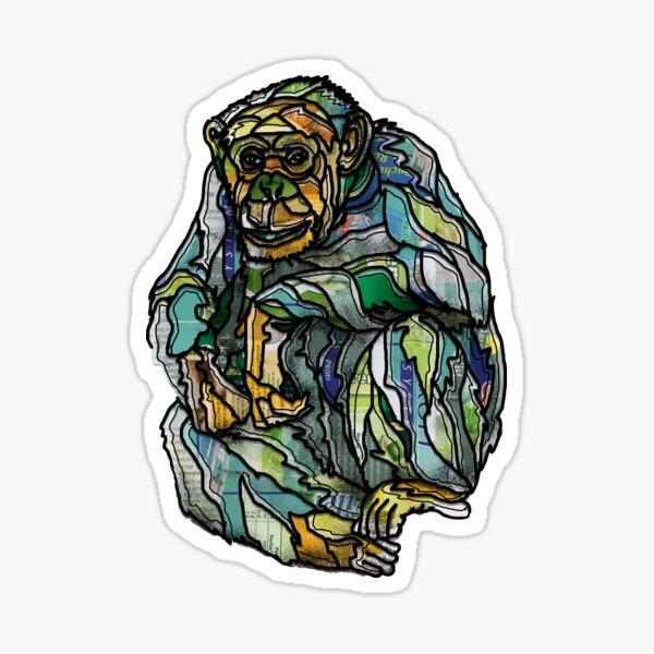 Sitting Chimpansee Sticker