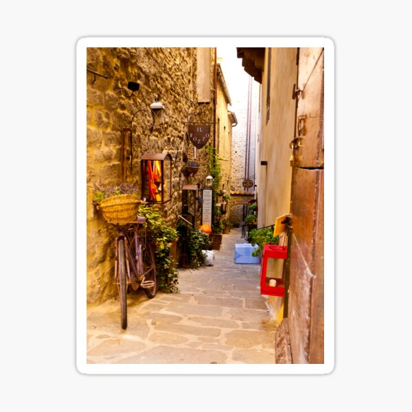 Small Street In Cortona Sticker
