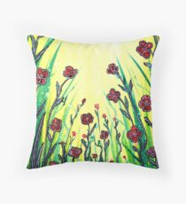 The Promise of Spring - Poppies Floor Pillow