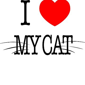 I love cat t-shirt by SamDesigner