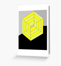 Yellow Cube Greeting Card