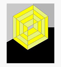 Yellow Cube Photographic Print