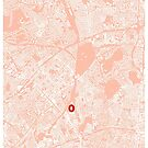 Arsenal Emirates Stadium Map - Light Pink Style by stadiamap