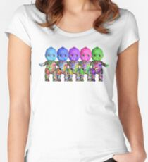 Tattooed Kewpies in a row Women's Fitted Scoop T-Shirt