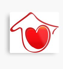 Red Heart with Love Metal Print