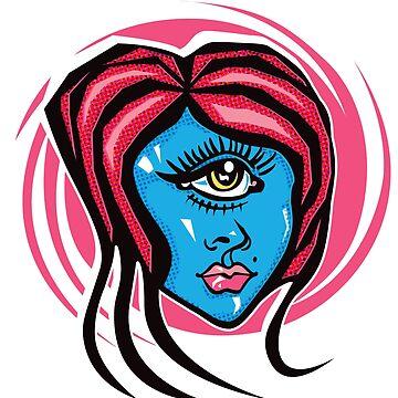 'Eye See You' (Cyclops Babe) by eeveemac