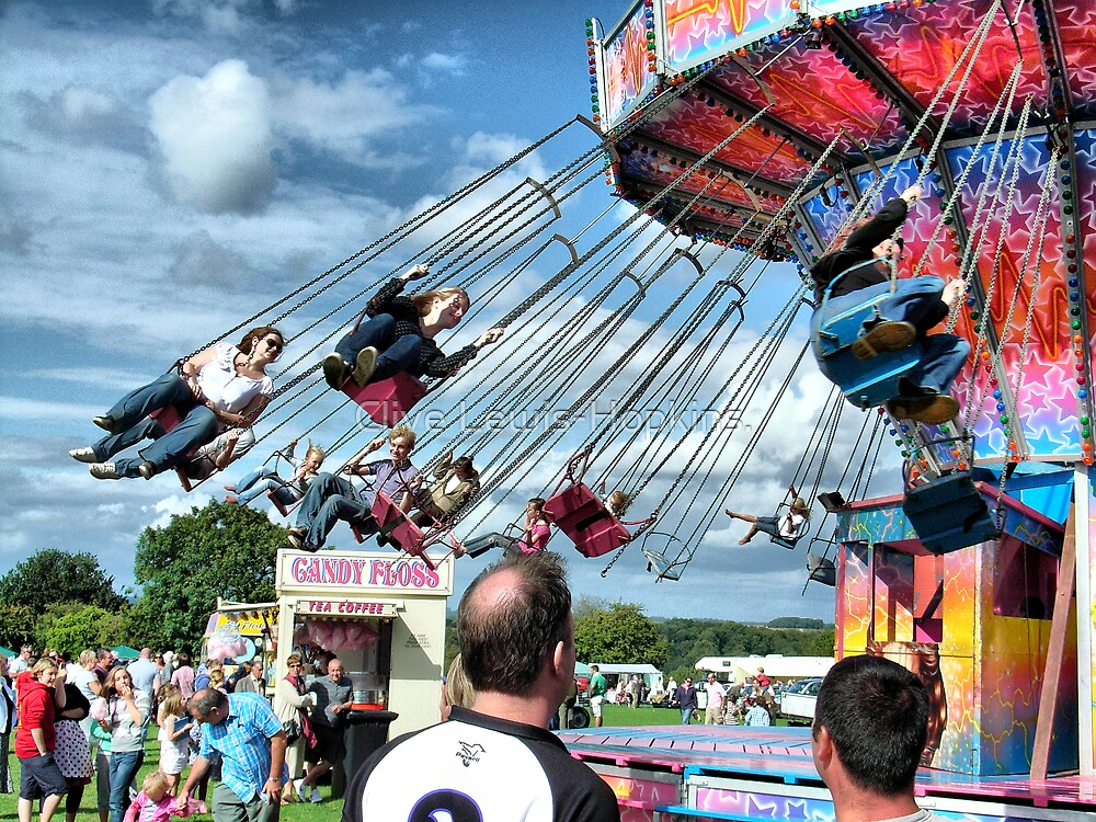 Fun at Hawkesbury Upton Fair.  by Clive Lewis-Hopkins.