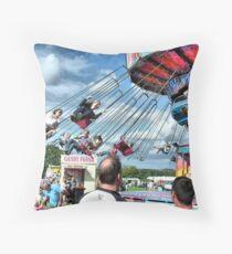 Fun at Hawkesbury Upton Fair.  Throw Pillow