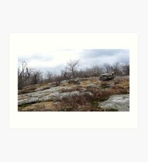 Desolate Mountain 3 Art Print