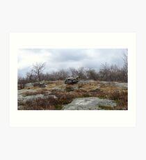 Desolate Mountain 2 Art Print