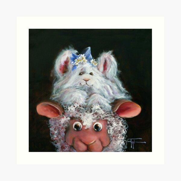 Hat Hare Art Print