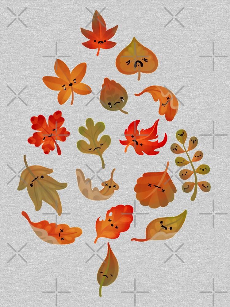 Sad fallen leaves by pikaole
