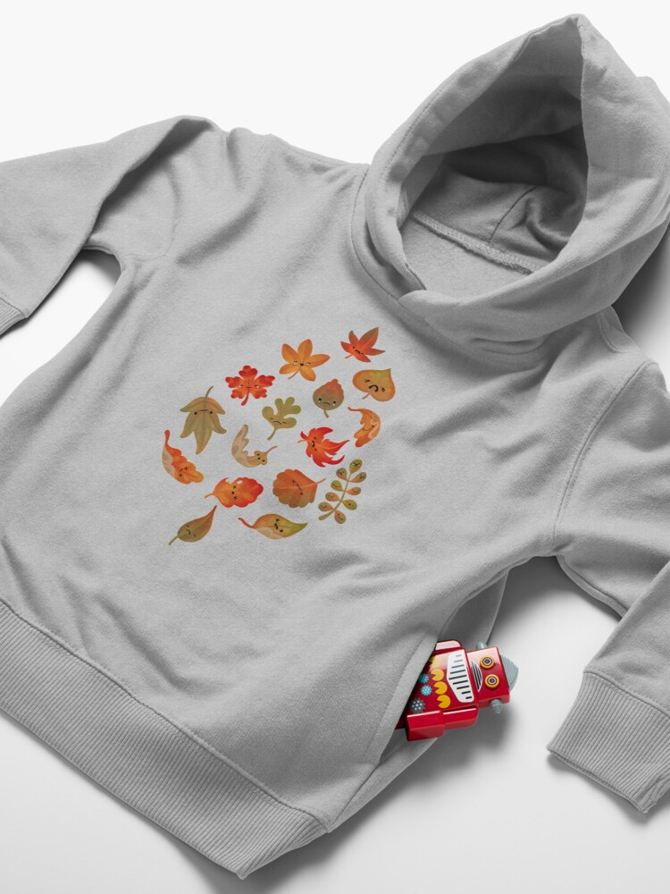 Alternate view of Sad fallen leaves Toddler Pullover Hoodie