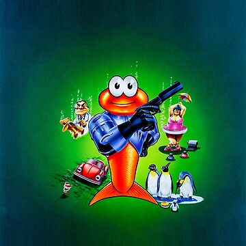 James Pond 2: Codename: RoboCod game cover artwork by RetroTrader