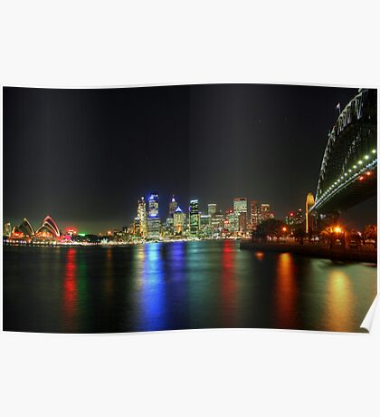 Sydney At Night - HDR Poster