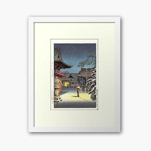 Snow At Nezu Shrine - Tsuchiya Koitsu Print Framed Art Print