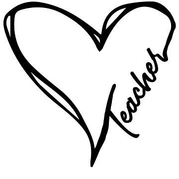 Teacher Heart Best Gift For Teachers by BUBLTEES