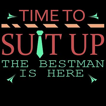Suit up! Best man wedding best man gift by SoulProducts