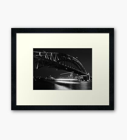 Ghost Ship - Sydney - Australia Framed Print