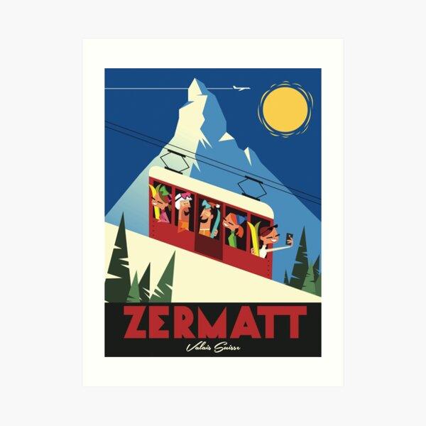 Zermatt Ski Poster Art Print