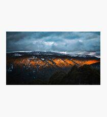 Ray of Orange Light Photographic Print