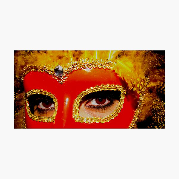 Mysterious Masquerade Photographic Print