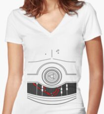C-3P0 Women's Fitted V-Neck T-Shirt
