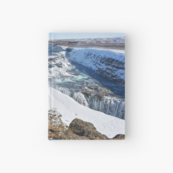 Gullfoss - the largest waterfall on Iceland Hardcover Journal