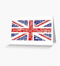 Landmark and Flag A Greeting Card