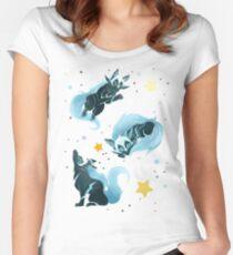 Camiseta entallada de cuello redondo Lobo cósmico