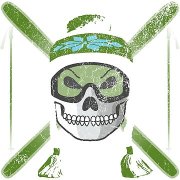 Ski Skull - Green | Skiing Designs | DopeyArt by DopeyArt
