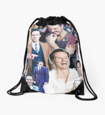 andrew scott collage Drawstring Bag