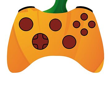 Video Gamer Halloween Shirt Funny Pumpkin Costume Controller by carlosa98