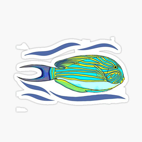 Striped Surgeonfish Sticker