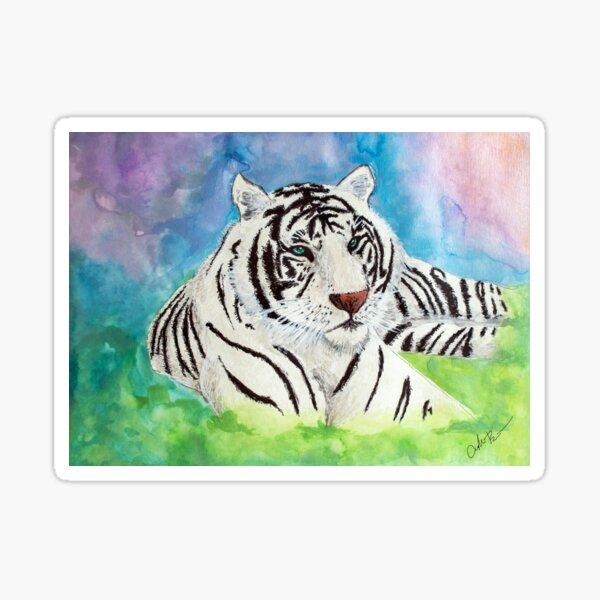 White Tiger Spirit Animal Sticker