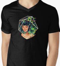 Camiseta de cuello en V Trébol