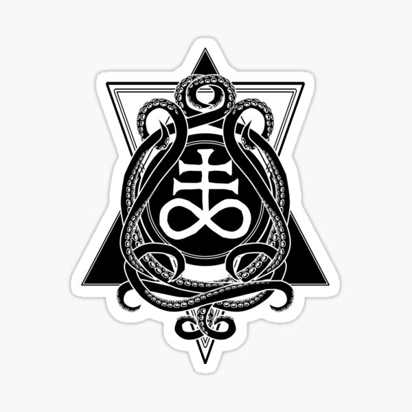 Leviathan cross and tentacles Sticker