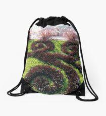 Pattern, #Pattern, grass, #grass Drawstring Bag