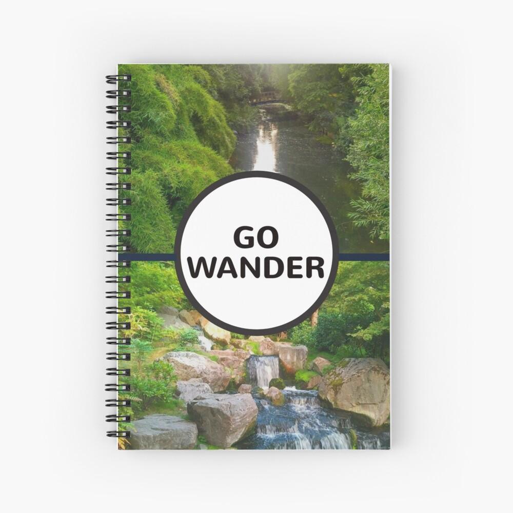 GO WANDER Spiral Notebook