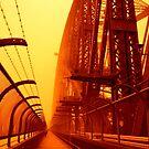 The Red Walk - SYDNEY DUST STORM by Bryan Freeman