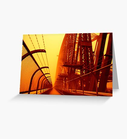 The Red Walk - SYDNEY DUST STORM Greeting Card